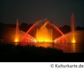 Wasserlichtspiele blomen planten anfahrt un Wasserlichtkonzerte in